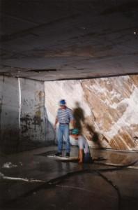 Un buco trovato all'interno della cava, dall'archivio fotografico del GSPi.